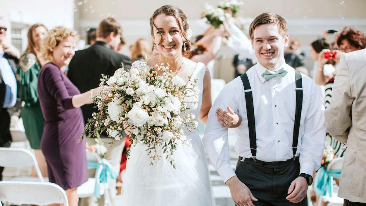 Drexelbrook Patio Wedding Aisle