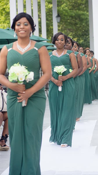 Bridesmaids at Drexelbrook Mansion