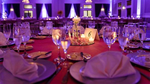 Drexelbrook Grand Ballroom Table Setting