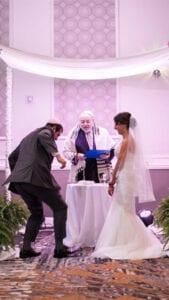 Glass Smashing Drexelbrook Jewish Wedding