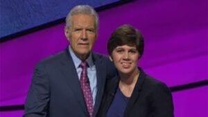 Jeopardy Host Alex Trebek with Delaware County winner