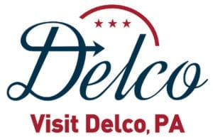 official logo for the Delaware county PA tourism Agency