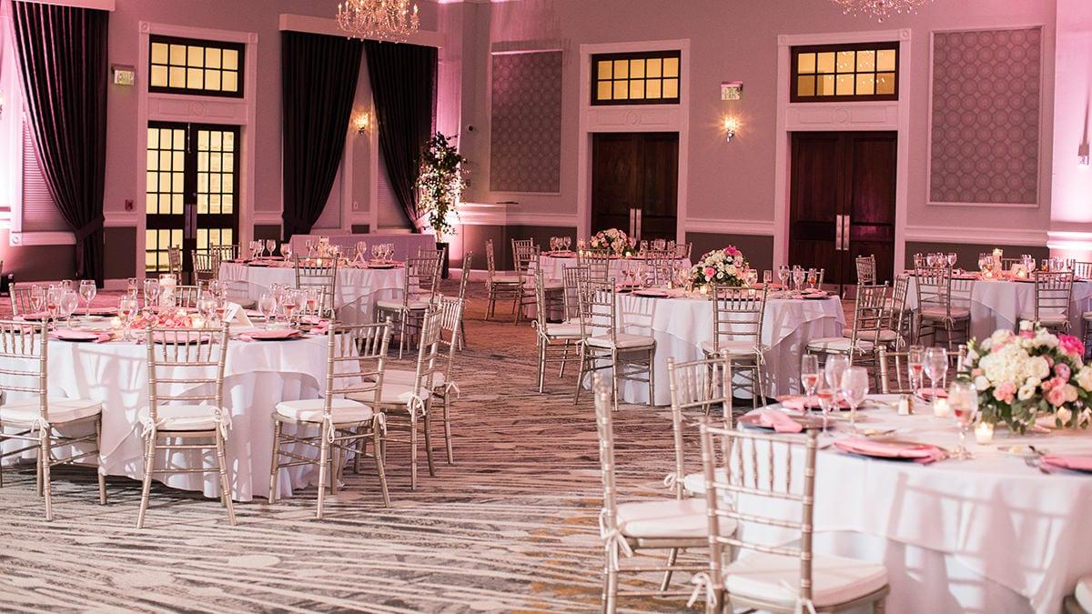 Wedding Seating in the Grand Ballroom