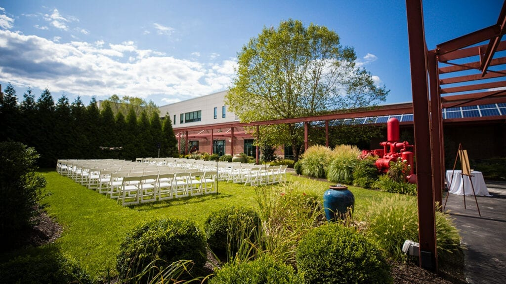 Franklin Commons Wedding Venue Courtyard