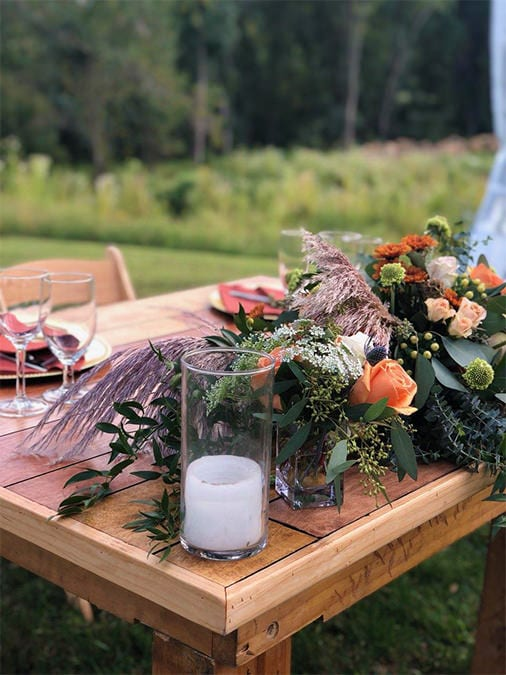 Drexelbrook Catering Table Design with Candle