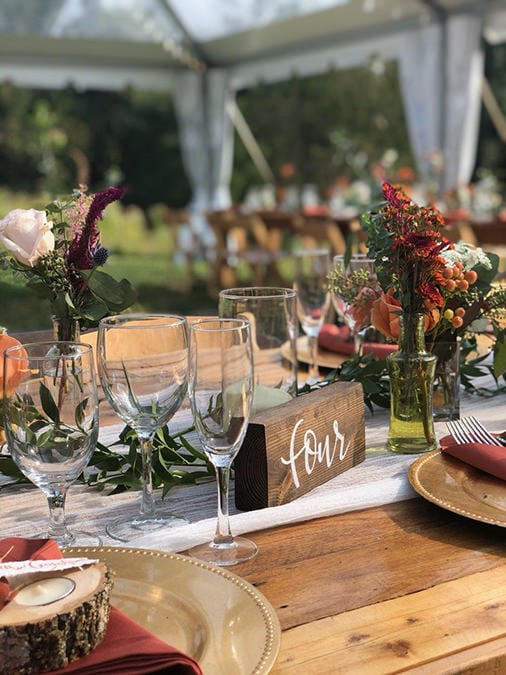 Drexelbrook Catering rustic table setting