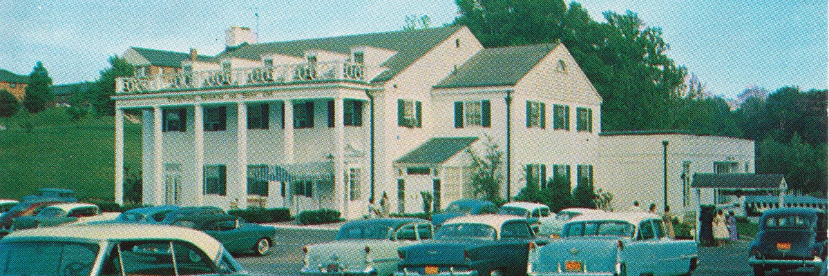 The Drexelbrook Mansion circa 1950