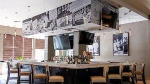 the Bar and artwork at Streetlight Kitchen and Bar
