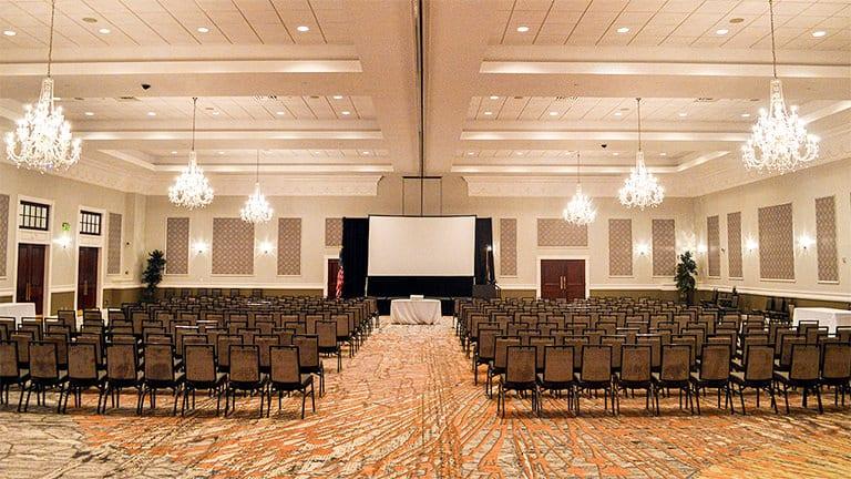 Corporate Presentation Seating in the Grand Ballroom