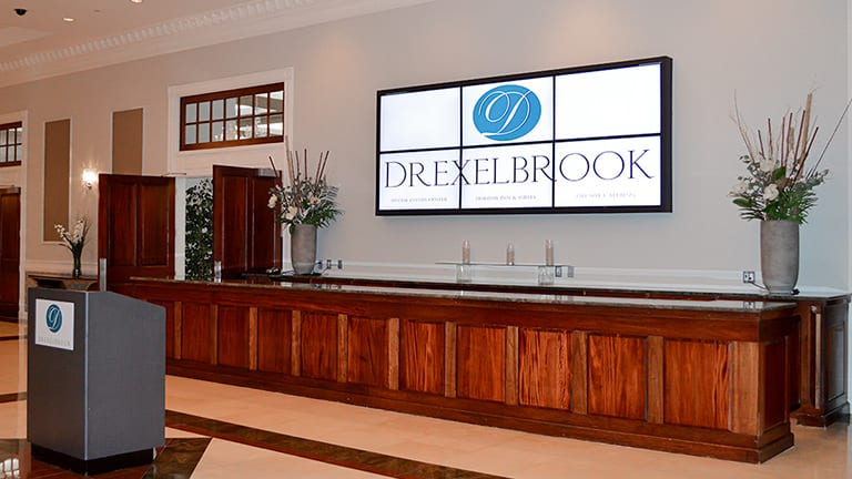 The Drexelbrook Grand Lobby Welcome Screen