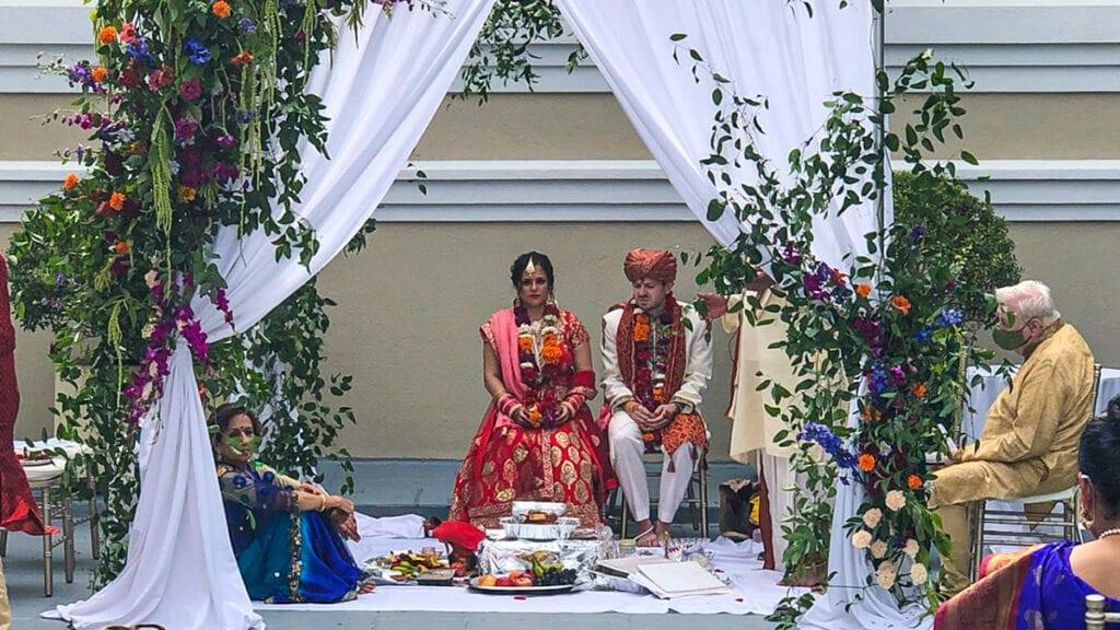 Indian Wedding Ceremony on Drexelbrook Patio