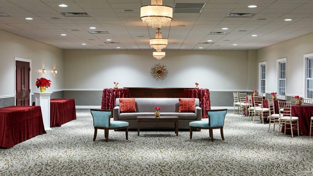 Chesapeake Room setup lounge style