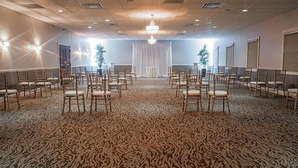 Chesapeak Room Set Up for Ceremony