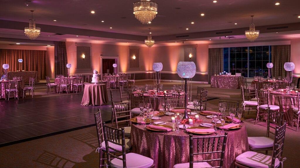 Wedding Table Layout in the Brandywine Ballroom