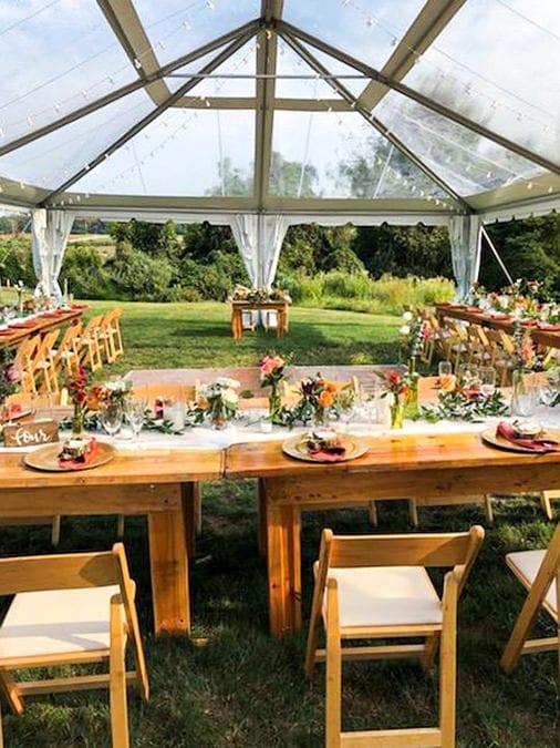 Off-Premise Drexelbrook Catering Table Set Up