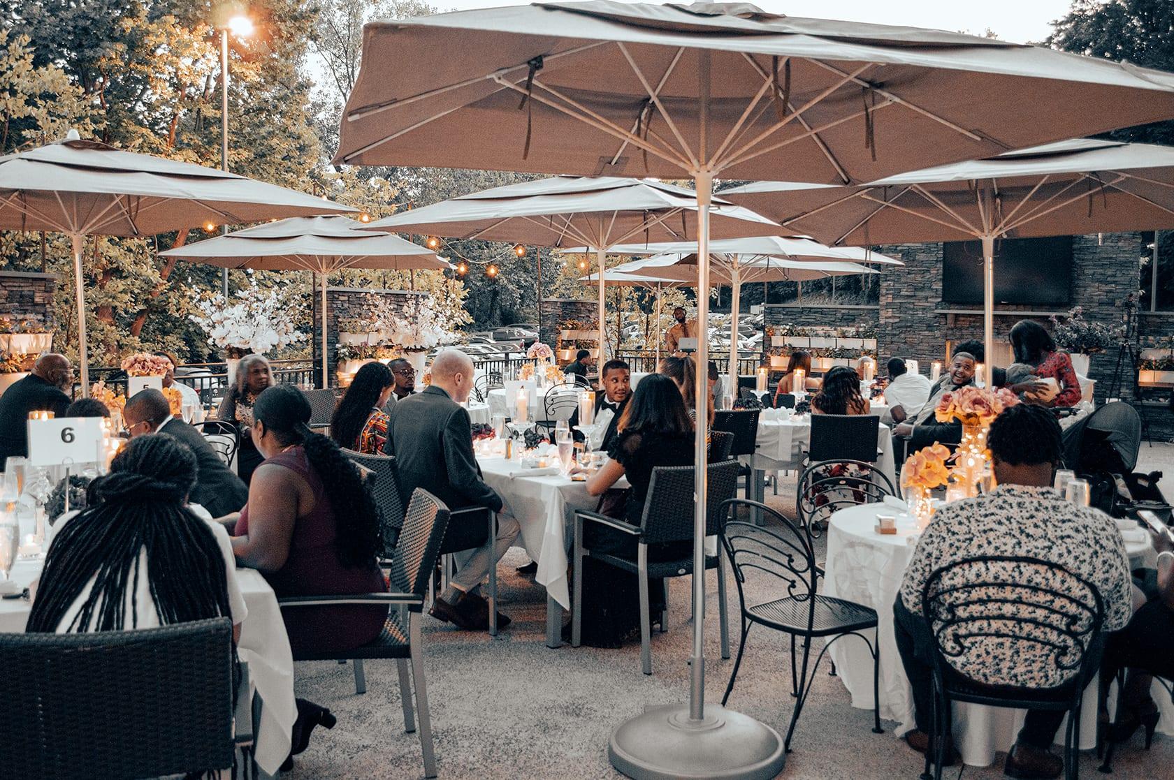 Streetlight Kitchen & Bar Patio Wedding Party